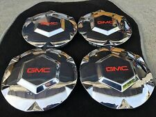 "NEW 4PC SET 2002-2007 GMC ENVOY XL XUV CHROME 17"" WHEEL HUB CAP EMBLEM 9593396"