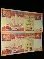 2 Singapore Ship $10 (running number)