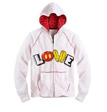 "Disney Store Authentic Mickey Mouse Womens ""LOVE"" Hoodie Jacket Coat Size Small"