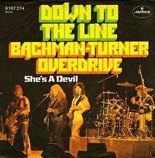 "7"" Bachman-Turner Overdrive (BTO) – Down To The Line // Germany 1975"
