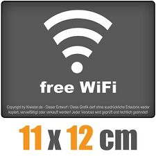 Free WiFi 11 x 12 cm JDM decal sticker coche car blanco discos pegatinas