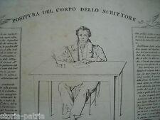 CALLIGRAFIA_SCRITTURA_PENNE_POSIZIONE DELLO SCRITTORE_DE SANCTIS_FERGOLA_NAPOLI
