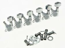 Lefty 6 Inline Tuning Keys Guitar Tuners Left Handed Machine Heads Chrome
