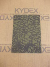 KYDEX T SHEET 297 X 210 X 2MM A4 SIZE  OLIVE DRAB SCRIM CAMO  INFUSED PANEL