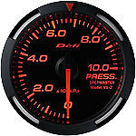 Defi Racer Gauge 52mm Pressure Meter DF06605 Red