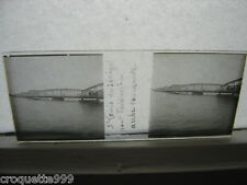 photo plaque verre STEREO St Louis du Senegal pont Faidherbe arche tournante