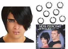 NON-PIERCING Costume JEWELRY CLIP-ON KIT  cheeks eyebrows lips ears