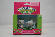 CALICO CRITTERS EFFWOODS ELEPHANT TWINS DOLL HOUSE FIGURES NEW IN BOX