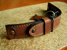 WW2 MILITARY GENUINE LEATHER BAND STRAP LACO AIR FORCE WATCH AVIATOR PILOT 24mm
