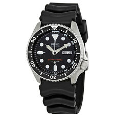Seiko Automatic Black Dial Black Rubber Mens Watch SKX007J1