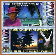 British Indian Ocean Territory, £1,000,000, 2016, Polymer, QEII, UNC