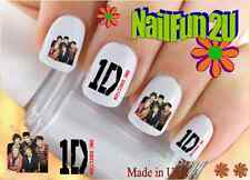 "RTG Set#581 CHARACTER ""1D Red One Direction #1"" WaterSlide Decals Nail Transfer"