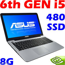 "ASUS X556UV CORE i5 6200U 8GB 480GB-SSD 15.6"" Win10 Geforce-GT920M Gaming Laptop"