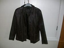 Brown Leather Jacket size 12 14