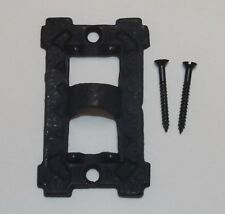 "3"" LONG BLACK CAST IRON SQUARE WALL BRACKET LAMP HINGE WITH SCREWS NEW 13926JB"