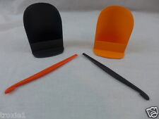 Tupperware Rocker Scoops Canister & Citrus Peelers Halloween Colors Lot Of 4 New