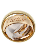 Brand New CARTIER 18K Tri color Gold Ring Size 6.5(53)Box & Cert Made in France