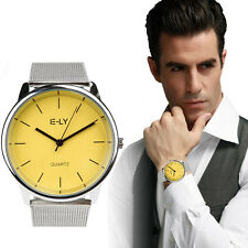 Luxury Men's Business Quartz Wrist Watch Stainless Steel Boy Sports Analog Watch