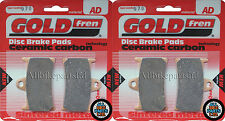 YAMAHA XV1900 A MIDNIGHT STAR 2012 (2xSets) SINTERED FRONT BRAKE PADS *GOLDFREN*