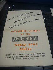 ideal home exhibition 1947  journalism journalist Daily Mail interesting