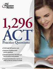 1,296 ACT Practice Questions (College Test Preparation), Princeton Review, Good
