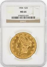 1904 NGC MS64 $20 Liberty Head Double Eagle Gold Coin Lot 22
