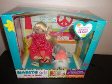 2011 KARITO  KIDS PLAY A ROLE I AM GIRL DOLL DOG BRUSH PLAY  ROOM 7 PIECE SET