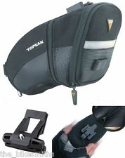 Topeak Medium QuickClick Aero Wedge TC2252B Bike Seat Bag w/Fixer QR Pack Black