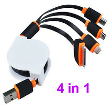 4 in 1 Retractable Micro USB Charger Cables For iPhone Samsung US SHIP