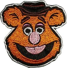 Fozzie Bear Face Embroidered Patch Kermit the Frog Miss Piggy Animal Gonzo