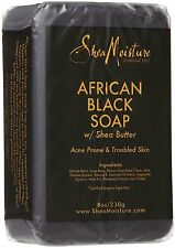 2 X Shea Moisture African Black Soap with Shea Butter 8oz 230g