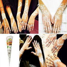 White Natural Herbal Temporary Tattoo kit Henna Cones Body Art Paint Ink CHI