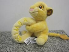 "DISNEY STORE 6"" SIMBA SOFT PLUSH RATTLE BABY COMFORTER LION KING"