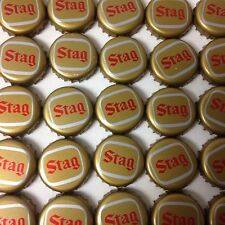 LOT OF 500 STAG BEER BOTTLE CAPS NO DENTS GOLD CAPS WITH RED LETTERING