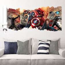 DC Comics Marvel The Avengers Wall Sticker Team  Decal Vinyl Art Decoration TMPG