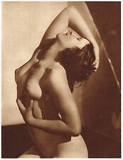 1920s Vintage Czech Female Nude Frantisek Drtikol Art Deco Photo Gravure Print b