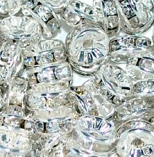 100/ 50pcs A+ glass rhinestone rondelle spacer beads various colors and sizes