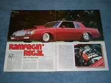 "1981 Buick Regal Pro Street Drag Car Article ""Rampagin' Regal"""