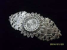 Silver Intricate Wire Design Barrette Hair Clip for Updo 1980s Vintage Stylish