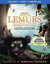 Island of Lemurs: Madagascar (3D Blu-ray + Blu-ray + DVD + Digital HD) NEW!