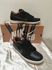NIKE DUNK LOW PREMIUM SB QS BLACK/BONE BLACK RAIN MEN SIZE 7.5 NEW 504750 011