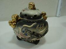 KITTENS  VINTAGE DRAGONWARE JAPAN INCENSE BURNER