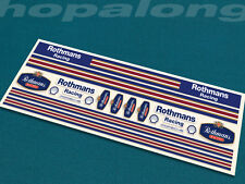 Scalextric/Slot Car 1/32 Scale Peel & Stick  Decals. ds203