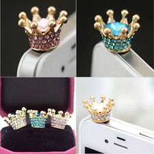 3.5mm Rhinestones Crown Anti-dust Plug for Cellphone Multicolor dustproof cover