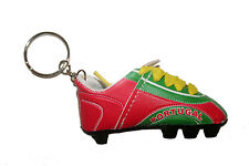 PORTUGAL RED GREEN SOCCER  SHOE CLEAT KEYCHAIN .. NEW