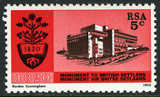 South Africa 406, MI 445, MNH. Natl. Monument to British settlers of 1820, 1974