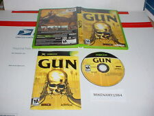 GUN wild west shooter game complete in case for Microsoft XBOX