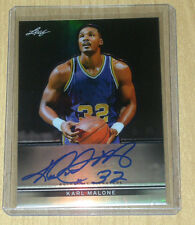 2013 Leaf Metal Basketball on-card autograph parallel Karl Malone 14/50