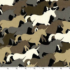 BY YARD-Unicorn Herd Taupe Camouflage Camo Fabric Michael Miller CX6364-TAUP-D