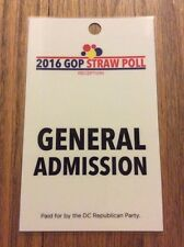 2015 DC Republican Party Presidential Straw Poll Credential Dr. Ben Carson Wins
